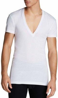 2xist Pima Cotton Slim Fit Deep V-Neck Undershirt