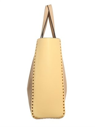Marni Studded Two Tone Soft Leather Tote