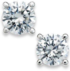 X3 Certified Diamond Stud Earrings in 18k White Gold (1/2 ct. t.w.), Created for Macy's