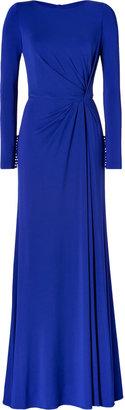 Elie Saab Side Draped Gown in Indigo Blue