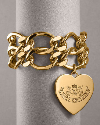 Juicy Couture Double-Chain ID Bracelet, Gold Plate