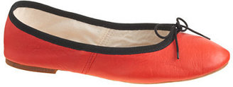 E. Porselli for J.Crew leather ballet flats $335 thestylecure.com