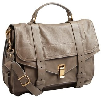 Proenza Schouler smoke brown leather 'PS1' large satchel