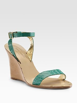 Kate Spade Jette Ankle-Strap Wedge Sandals