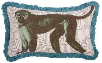 Thomas Paul Monkey Pillow 20x12 Ochre
