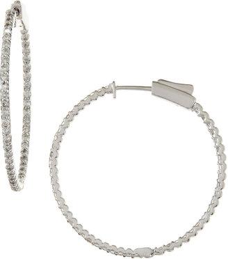 KC Designs Diamond Hoop Earrings, 1.0