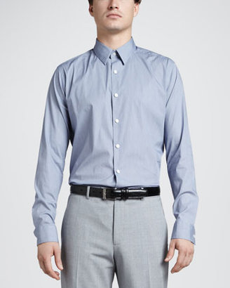 Theory Sylvain Stretch-Cotton Sport Shirt
