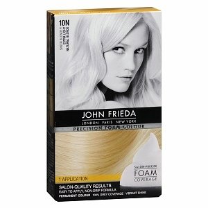John Frieda Precision Foam Colour, 10N Sheer Blonde Extra Light Natural Blonde