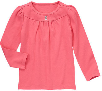 Gymboree Gem Button Tee