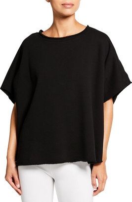 Frank And Eileen Capelet Raw-Edge Tee, Black