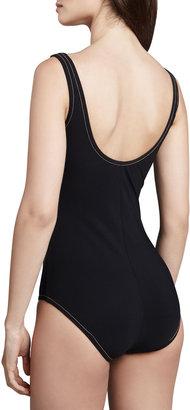 Karla Colletto Oasis Colorblock One-Piece Swimsuit