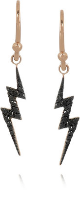 Lightning Bolt Diane Kordas 18-karat rose gold diamond earrings