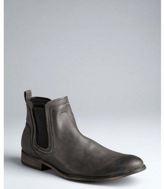 Kenneth Cole Reaction grey faux leather 'Slot Car' slip-on boots