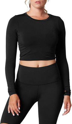 Tavi Noir Arabesque Cropped Long-Sleeve Top