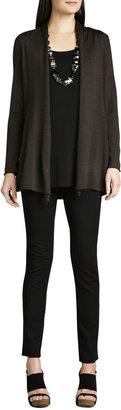 Eileen Fisher Long Merino Cardigan, Silk Jersey Tunic & Stretch Ponte Skinny Jeans