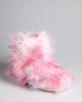 Steve Madden Girls' Fuzzy Slipper Boots - Little Kid, Big Kid