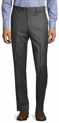 Lauren Ralph Lauren Solid Wool Flat Front Pants