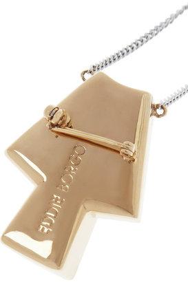 Eddie Borgo Gold-plated onyx necklace