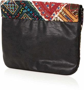 Topshop Patchwork clutch bag