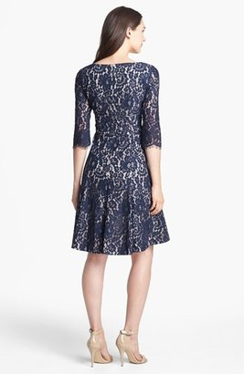 Eliza J Lace Fit & Flare Dress