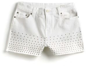 Buffalo David Bitton Panama Embellished Cut-Off Denim Shorts