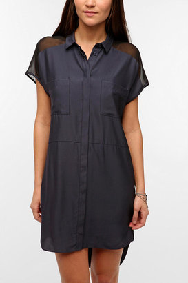 Silence & Noise Mia Silky Shirtdress