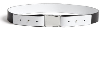 Milly Monochrome Reversible Leather Belt