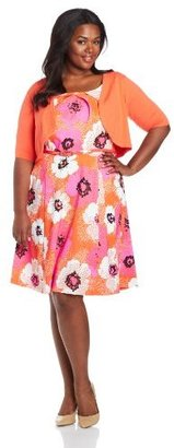 Amy Byer Women's Plus-Size 2 Piece Fit and Flare Dress