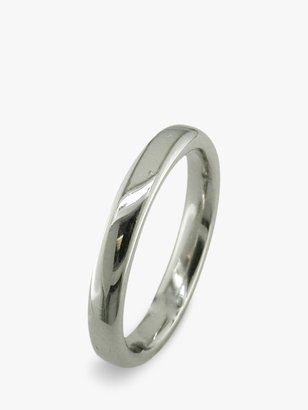 E.W Adams Platinum 3mm Court Wedding Ring, Platinum