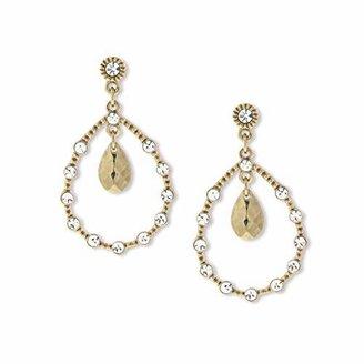 """1928 Jewelry en Glitz"""" -Tone Crystal Teardrop Earrings"""