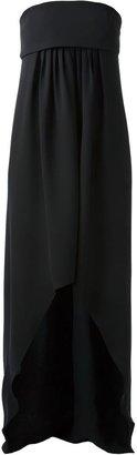 Saint Laurent pleated bustier dress