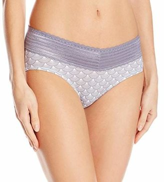 Warner's Women's No Pinches No Problem Cotton Lace Hipster Panty $11.40 thestylecure.com