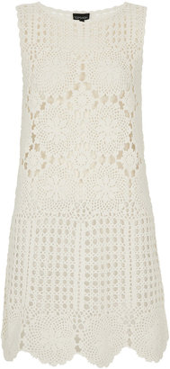 Topshop Cream Floral Crochet Cover Up