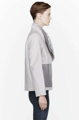 Helmut Lang Cream Felt & Fur Void Reversible Jacket