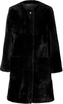Marc by Marc Jacobs Fur Coat in Black