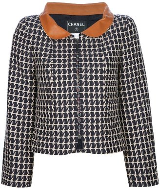 Chanel contrast collar jacket