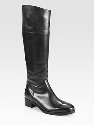 Saks Fifth Avenue 10022-SHOE Orlando Leather Knee-High Riding Boots
