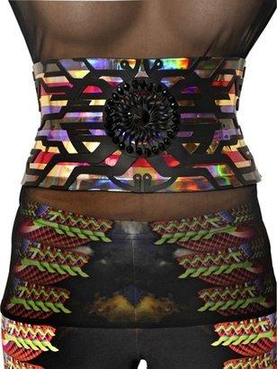 Manish Arora 140mm Laser Cut Leather High Waist Belt