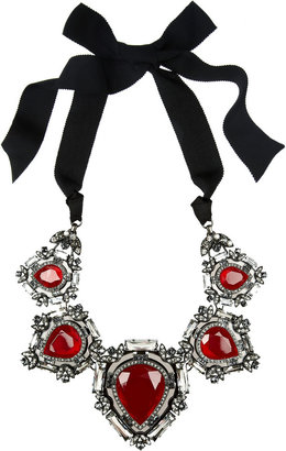Lanvin Crystal ribbon necklace