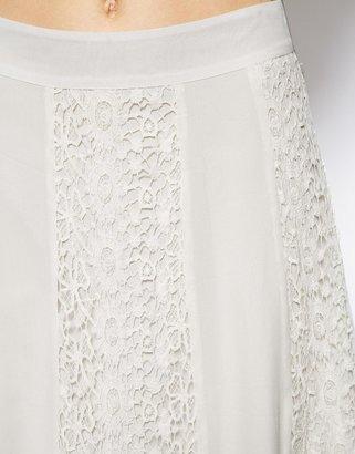 Asos Premium Maxi Skirt In Vintage Lace