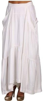 BCBGMAXAZRIA Tiered Maxi Skirt (Off White) - Apparel