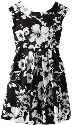 Rare Editions Girls 7-16 Floral-Print Woven Dress
