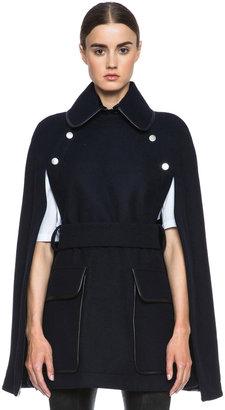 Victoria Beckham Dense Boiled Melange Trapeze Coat