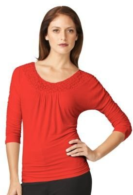 Adrianna Papell Embellished Scoop Neck Top