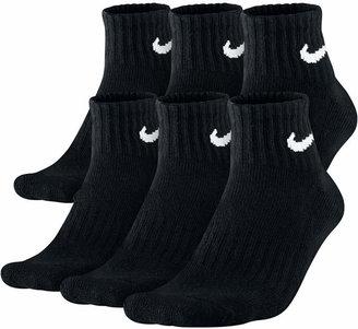 Nike Men Cotton Quarter Socks 6-Pack