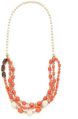 Leslie Danzis Triple Row Bead Necklace
