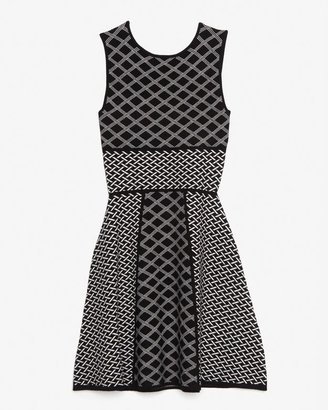 Intermix Exclusive For Mixed Print Sleeveless Flare Dress