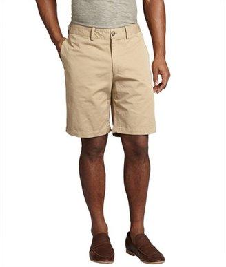 Shades of Grey khaki cotton flat front shorts