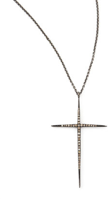 "Black Diamond Zoe Chicco Pave Cross Necklace, 30"""