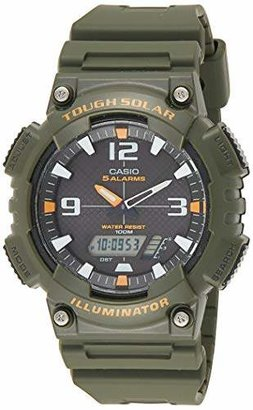 Casio Men's AQS810W-3AVCF Solar Watch with Band